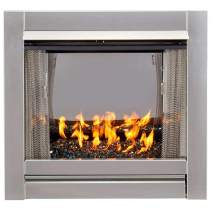 Bluegrass BL450SS-G-RBLK Vent-Free Stainless Outdoor Gas Fireplace, Black
