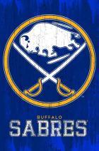 "Trends International NHL Buffalo Sabres - Logo, 22.375"" x 34"", Premium Unframed"