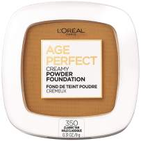 L'Oreal Paris Age Perfect Creamy Powder Foundation Compact, 350 Classic Tan, 0.31 Ounce
