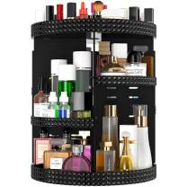 HEMTROY 360 Degree Rotating Makeup Organizer, 7 Layers Adjustable Storage Different Kinds of Cosmetics, Plus Size, Large Capacity Cosmetic Storage Organizer Best for Bathroom and Vanity (Black)