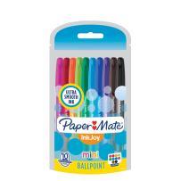 Paper Mate InkJoy Mini Ballpoint Pens, Medium Point, Assorted, 10 Pack (1951382)