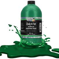 Pouring Masters Forest Green Acrylic Ready to Pour Pouring Paint – Premium 32-Ounce Pre-Mixed Water-Based - for Canvas, Wood, Paper, Crafts, Tile, Rocks and More