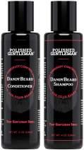 Beard Wash Shampoo and Conditioner Set - for Beard Dandruff and Dry Itchy Beards - with Beard Oils and Tea Tree - Organic Facial Hair Moisturizer Kit - Great Beard Mustache Wash (4oz)