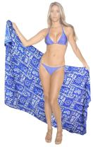 LA LEELA Women's Sarong Swimsuit Tie Cover Up Wrap Beach Wrap Dress Full Long J