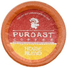 Puroast Low Acid Coffee House Blend, 36 Count