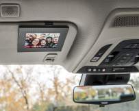 VISOR FRAMES - Clips to Car Sun Visor (Carbon Fiber) Fits Standard Wallet Size Photo (2.5 inches x 3.5 inches) - Rotating Clip for Landscape or Portrait Position - Made in Detroit, USA