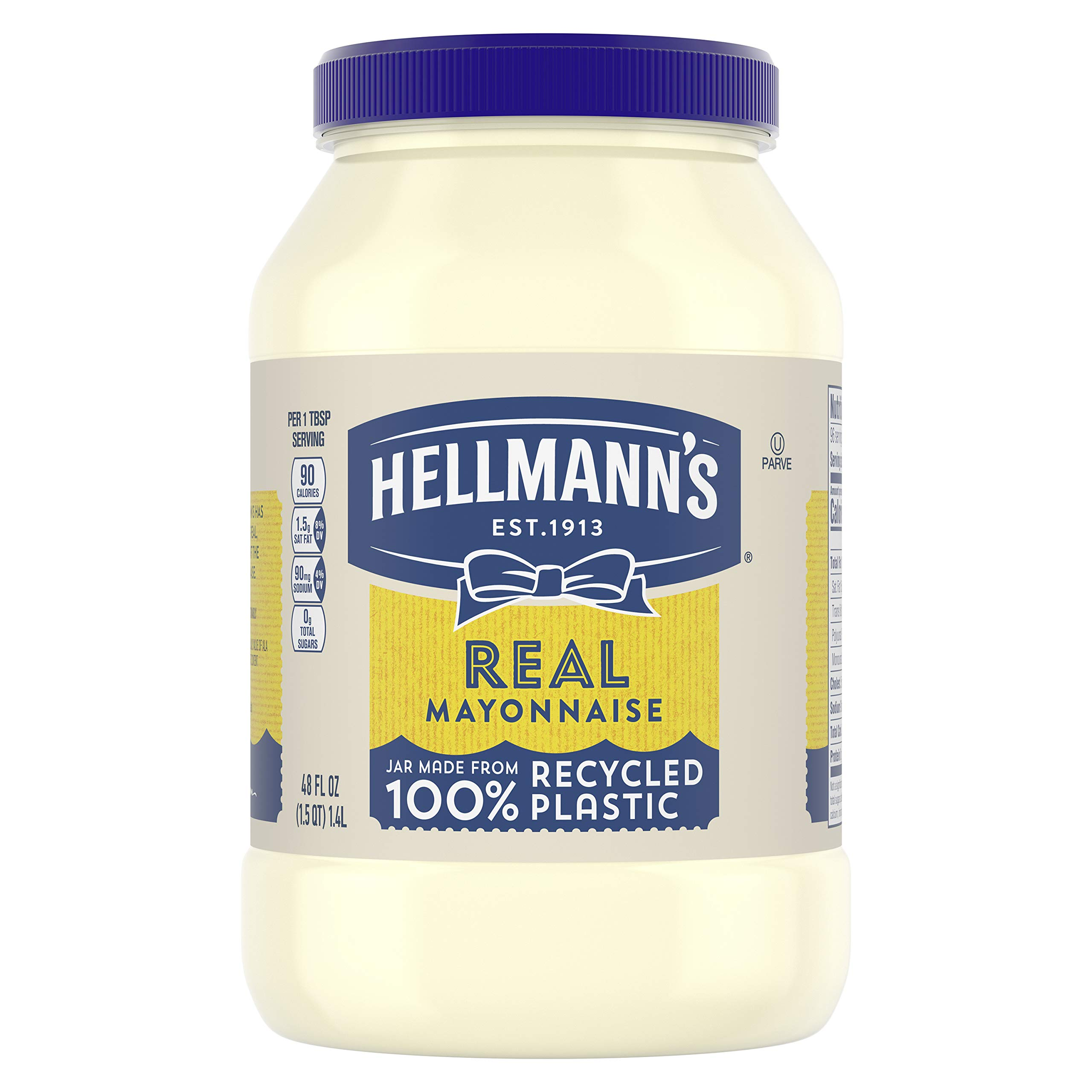 Hellmann's Real Mayonnaise For a Creamy Condiment Real Mayo Gluten Free, Made With 100% Cage-Free Eggs 48 oz