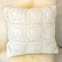 "Urban Loft by Westex Hypoallergenic Pillow, Nursery Décor for Infants, Toddlers & kids, 18"" x 18"", Crochet White"