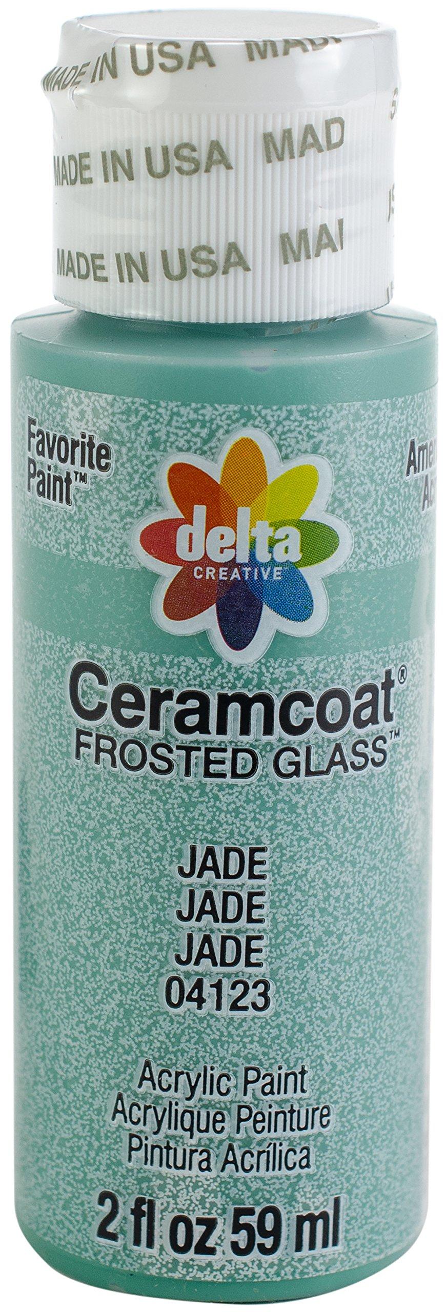 Delta Creative 4123 Ceram Coat Frost Acrylic Paint, 2 oz, Jade