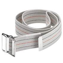 "OTC Walking gait Belt, Patient Transfer, Caregiver Stability Support Loop, White, 72"" Length"