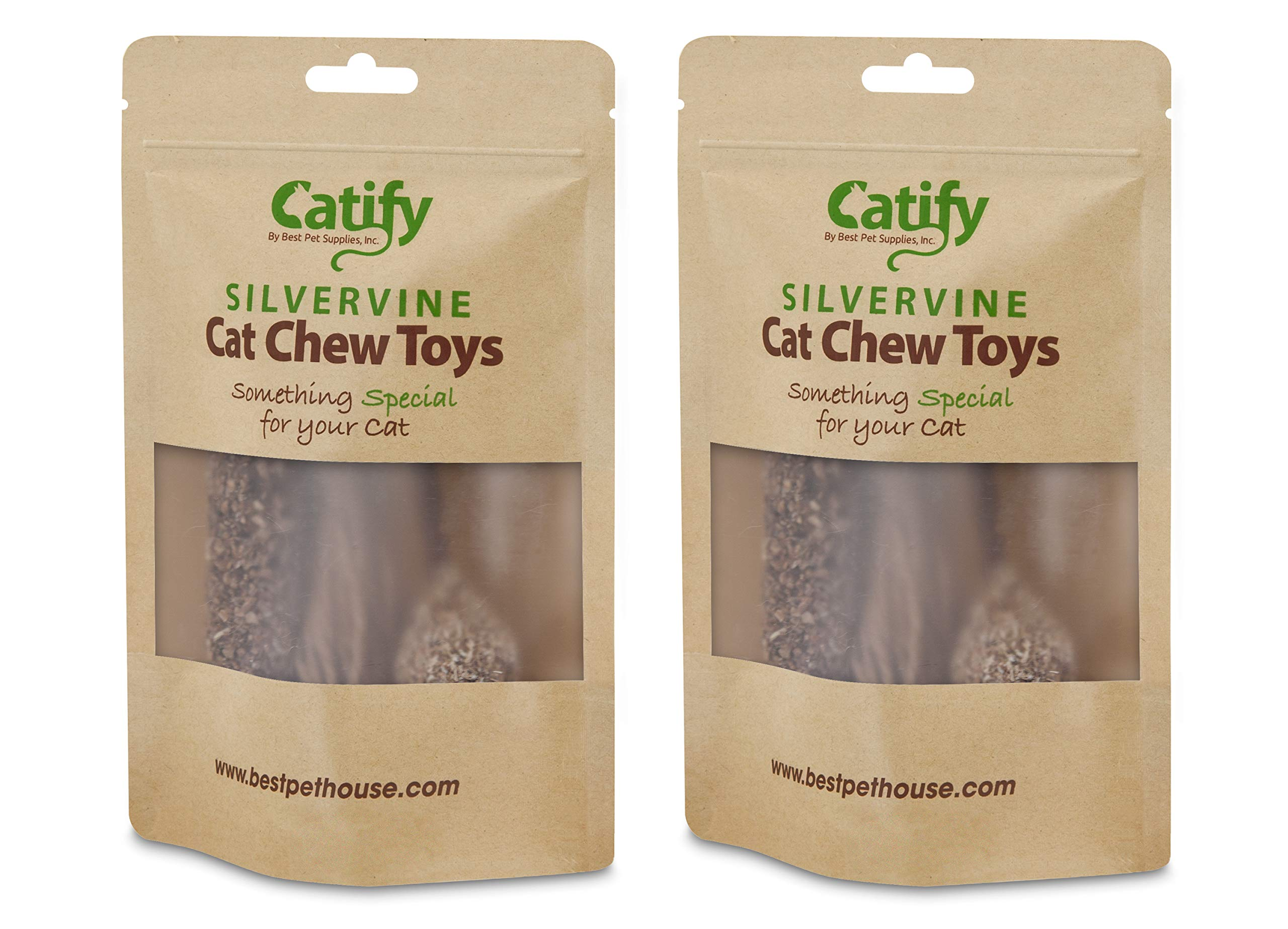 Natural Silvervine Cat Chew Toy | Interactive Silver Vine Chewing Toys with Catnip Like Effect