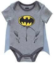 DC Comics Baby Boys' Superman Batman Onesie Bodysuit with Detachable Cape 0-9 Months