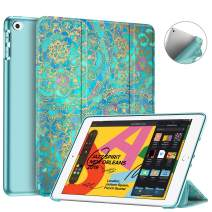 """Fintie SlimShell Case for New iPad 7th Generation 10.2 Inch 2019 - Lightweight Smart Stand with Soft TPU Back Cover Supports Auto Wake/Sleep for iPad 10.2"""" Tablet, Shades of Blue"""