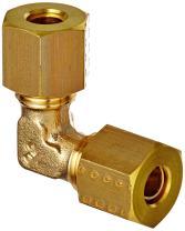 Legris 0102 06 00 Brass Compression Tube Fitting, 90 Degree Union Elbow, 6 mm Tube OD