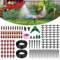 "Garden Irrigation System Automatic Watering System Drip Irrigation System 100FT 1/4"" Blank Distribution Hose DIY Micro Irrigation Kit Saving Water with Adjustable Dripper For Greenhouse Patio Lawn"