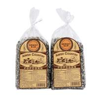 Amish Country Popcorn - 2 (2 Lb Bags) Midnight Blue Kernels - Old Fashioned, Non GMO, Gluten Free, Microwaveable, Stovetop and Air Popper Friendly with Recipe Guide