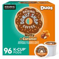 The Original Donut Shop Nutty Caramel, Single-Serve Keurig K-Cup Pods, Flavored Medium Roast Coffee, 96 Count