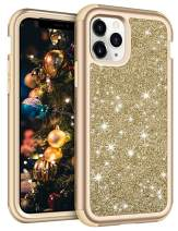 Vofolen for iPhone 11 Pro Max Case with Front Bumper Bling Glitter Shiny Full-Body Protection Hybrid Protective Hard Shell Soft Silicone TPU Rubber Bumper Armor Case for iPhone 11 Pro Max Gold