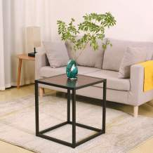 AMUV Coffee Table, Metal Side Table,Waterproof Square Side Table,Industrial End Table, Bedside Table,All Aluminum Components,Fire Proof Waterproof and Non-formaldehy