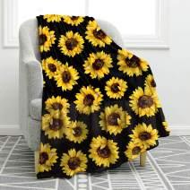 "Jekeno Sunflower Blanket Soft Warm Print Throw Blanket Lightweight for Kids Adults Women Gift 50""x60"""