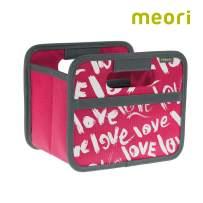 "Folding Box Mini Berry Pink/Love 6 ½"" x 5 ½"" x 5"" wipeable, Stable, Polyester Desk Bathroom Corridor Storage Box Pencils Accessories Storing"
