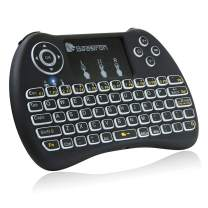 Beastron 2.4G Mini Wireless Keyboard with Touchpad&QWERTY Keyboard, Backlit Portable Keyboard Wireless with Remote Control for Laptop,PC,Tablets,Pad,Google Android TV,Xbox,PS3/4 .Black