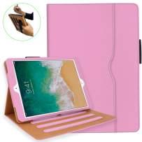 iPad 10.2 Case, iPad 7th Generation Case with Pencil Holder - Multi-Angle Stand, Hand Strap, Auto Sleep/Wake for iPad 7th Gen, iPad 10.2 2019(Pink)