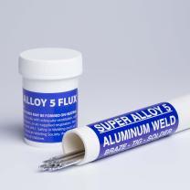 Super Alloy 5 Aluminum Welding and Brazing Rod & Flux Kit (Starter Kit 1/16 diameter)