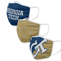FOCO NCAA unisex-adult College Face Cover - Adult - 3 Pack