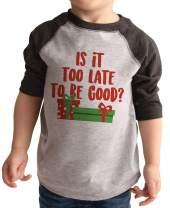 7 ate 9 Apparel Kid's Funny Christmas Shirt Grey
