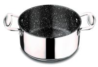 Mepra Glamour Stone 30212122 Casserole with Handle – Stainless Steel Cookware, Dishwasher Safe Kitchenware