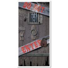 Haunted Halloween Door Cover Party Accessory (1 count) (1/Pkg)