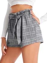 SweatyRocks Women's Casual Elastic Waist Striped Summer Beach Shorts