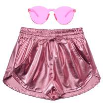 Perfashion Women's Metallic Shorts Summer Sparkly Hot Outfit Shiny Short Pants