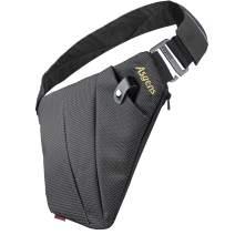 RIMIX Multi-Purpose Anti-Thief Hidden Security Bag Underarm Shoulder Armpit Messenger Bag Sports Leisure Chest Bag Portable Backpack for Phone Money Passport Tactical Bag (Black/for Left Hand)
