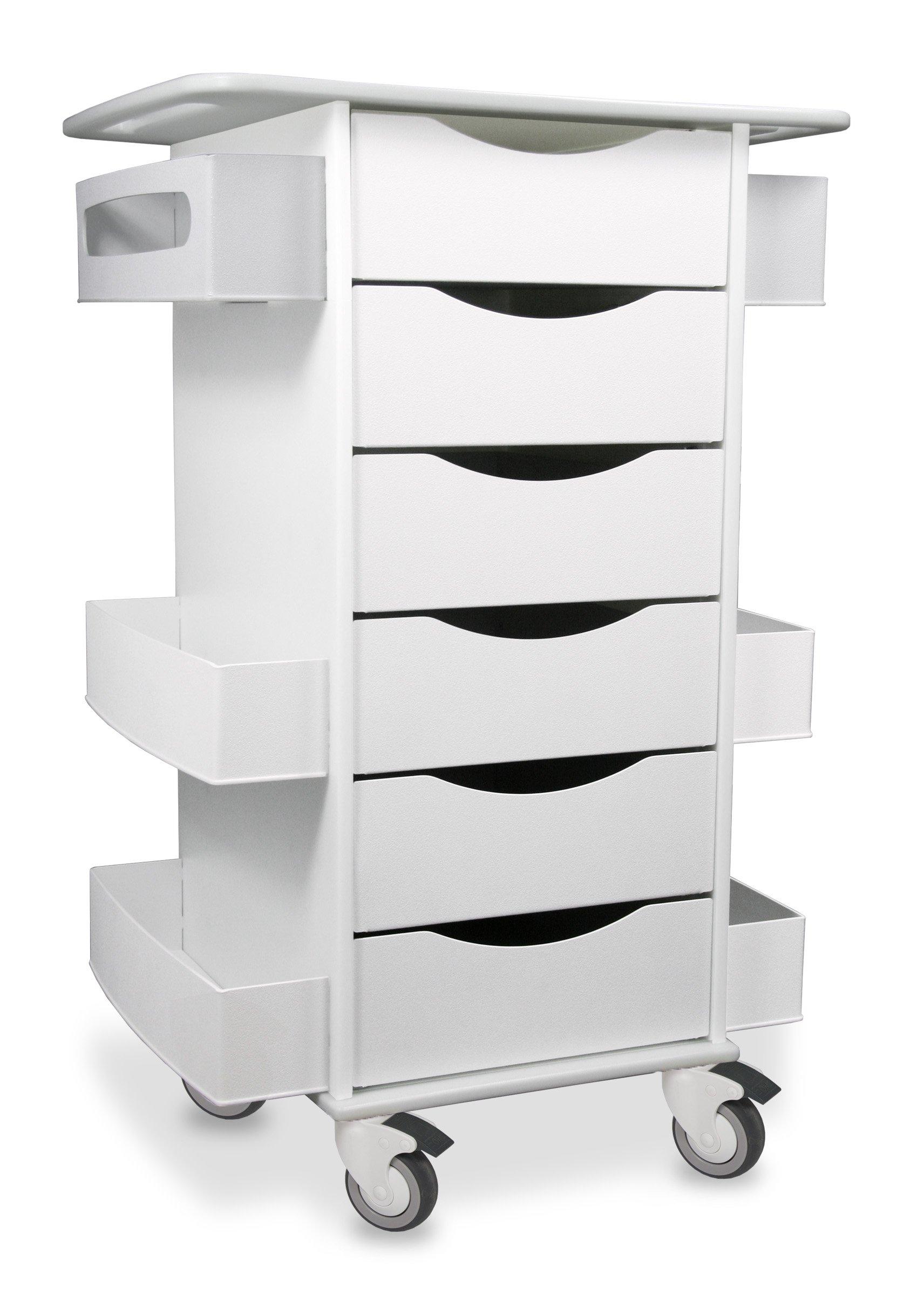 "TrippNT 51351 Core Six Drawer Cart, 23"" Width x 35"" Height x 19"" Depth, White"