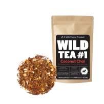 Coconut Chai, Rooibos Loose Leaf Tea Blend, 100% Naturally Grown Ingredients - Wild Tea #1 Herbal Chai Tea (4 ounce)