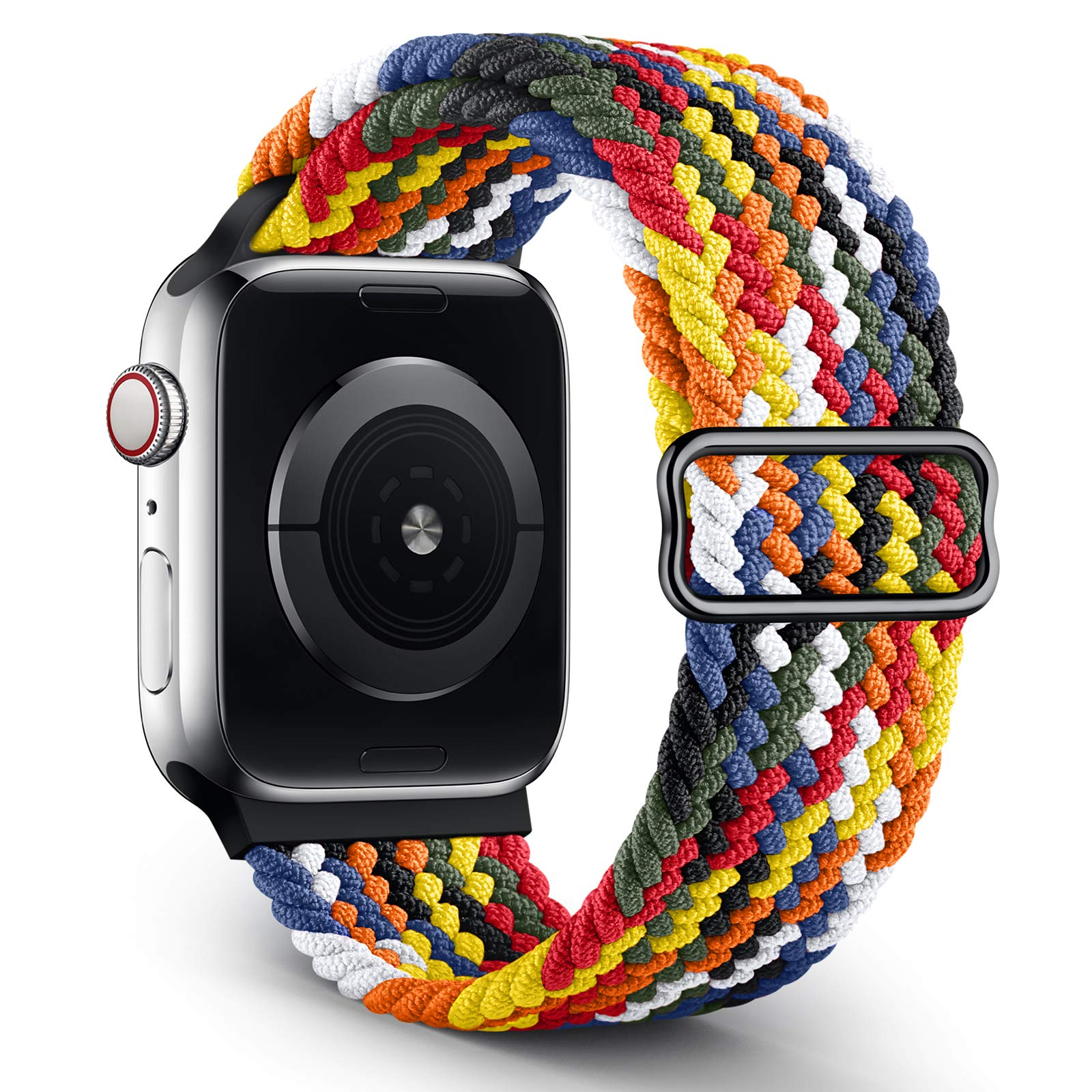 OYODSS Braided Solo Loop Sport Band Compatible with Apple Watch Bands 38mm 40mm 42mm 44mm, Adjustable Soft Stretchy Elastic Wristband Compatible with iWatch Series 6/5/4/3/2/1/SE Women Men 38mm/40mm
