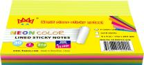 4A Sticky Notes,6 x 8 Inches,Large Size,7 Neon Color Assorted,Lined,Self-Stick Notes,210 Sheets/Pad,1Pad/Pack,4A 608-N-L-210