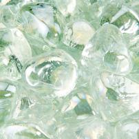 Arctic Ice - Fire Glass Diamonds for Indoor and Outdoor Fire Pits or Fireplaces   10 Pounds   1 Inch
