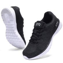 STQ Road Running Shoes for Women Breathable Walking Tennis Shoes Comfortable Mesh Fashion Sneakers