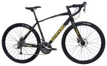 Tommaso Sterrata Shimano Claris R2000 Gravel Adventure Bike With Disc Brakes, Extra Wide Tires, And Carbon Fork Perfect For Road Or Dirt Trail Touring, Matte Black