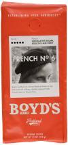 Boyd's French No. 6 Coffee - Ground Dark Roast - 12-Oz Bag (Pack of 6)