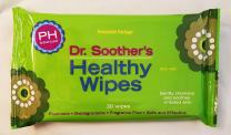 New Game Changing Feminine Care Product. Dr. Soothers Healthy Wipes, Larger Wipe, pH Balanced, Safe, Simple and Effective in Helping Prevent UTI's, Yeast Infections and Vaginitis.®