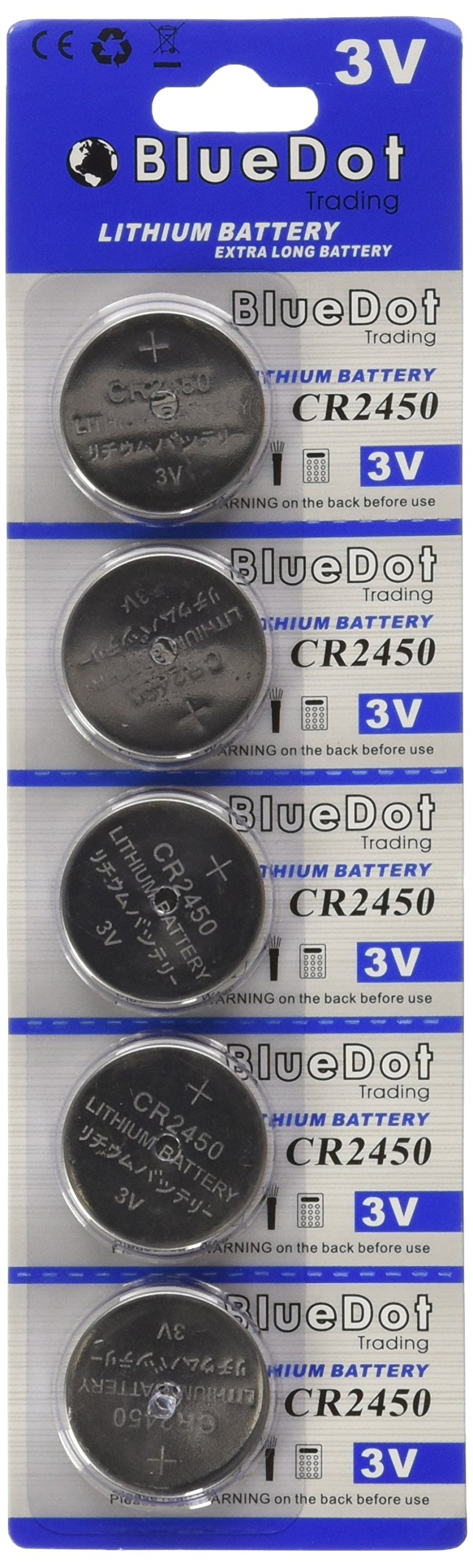 BlueDot Trading CR2450 Lithium Cell Battery, 25 Count