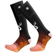 SNOW DEER Heated Socks,Men Women Electric Battery Socks Foot Warmer