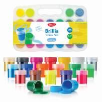DACO Kids Paint Set Brillia, Kids Art Set with 25 Bright Colors Includes Neon and Metallic Tempera Paint 0.7 fl.oz/20ml, with Storage Box, Washable Paint for Kids, School Paint Supplies, Finger Paint