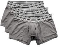 Mr. Davis Men's Bamboo Viscose Trunks Cut Boxer Brief Underwear, XXL, Grey, 3 Pack