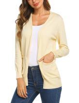 SoTeer Womens Basic Open Front Cardigan Knitwear Sweater