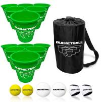 BucketBall - Team Color Edition - 12 Color Options - Ultimate Tailgate Game - Original Yard Pong Game